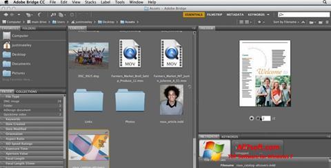 Captura de pantalla Adobe Bridge para Windows 7