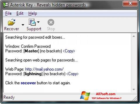 Captura de pantalla Asterisk Key para Windows 7