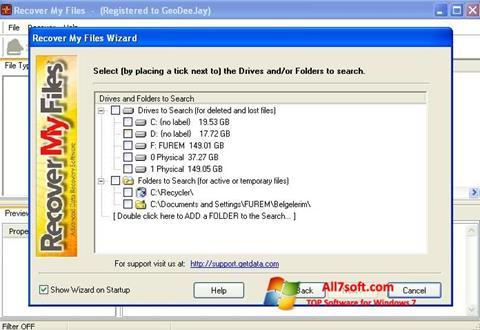 Captura de pantalla Recover My Files para Windows 7