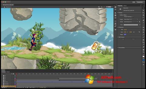 Captura de pantalla Adobe Flash Professional para Windows 7