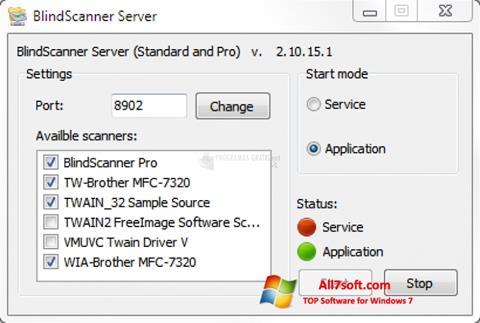 Captura de pantalla BlindScanner para Windows 7
