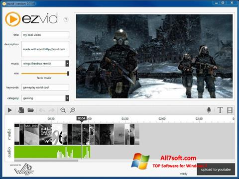 Captura de pantalla Ezvid para Windows 7