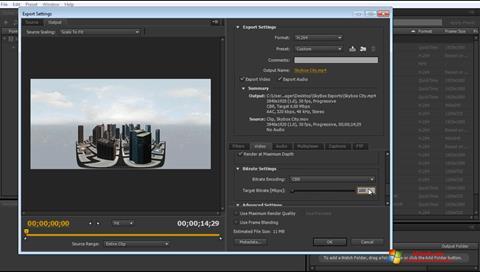 Captura de pantalla Adobe Media Encoder para Windows 7