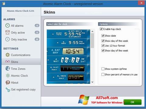 Captura de pantalla Atomic Alarm Clock para Windows 7