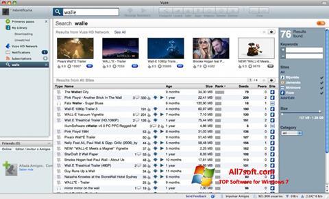 Captura de pantalla Vuze para Windows 7