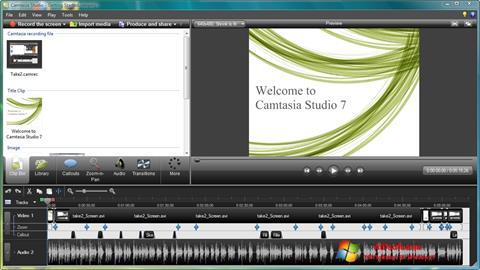 Captura de pantalla Camtasia Studio para Windows 7