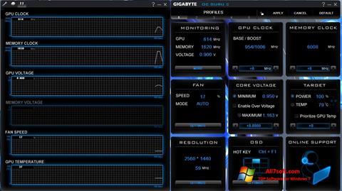Captura de pantalla GIGABYTE OC Guru para Windows 7