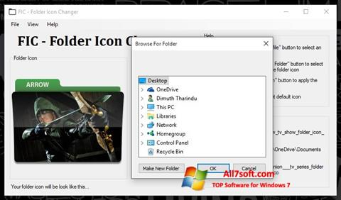 Captura de pantalla Icon Changer para Windows 7