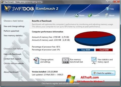 Captura de pantalla RamSmash para Windows 7
