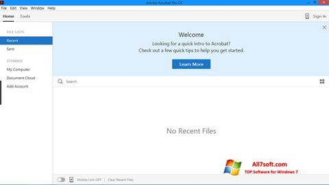 Captura de pantalla Adobe Acrobat Pro para Windows 7
