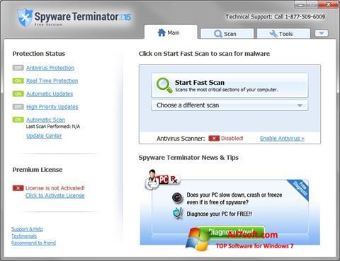 Captura de pantalla Spyware Terminator para Windows 7