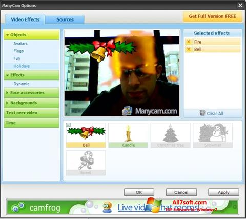 Captura de pantalla ManyCam para Windows 7