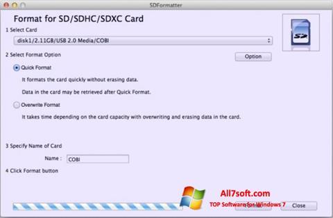 Captura de pantalla SDFormatter para Windows 7