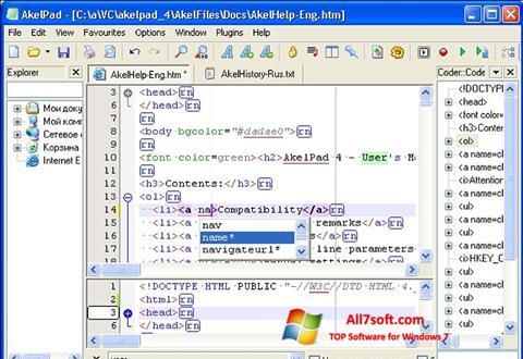 Captura de pantalla AkelPad para Windows 7