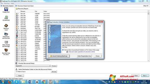Captura de pantalla BadCopy Pro para Windows 7