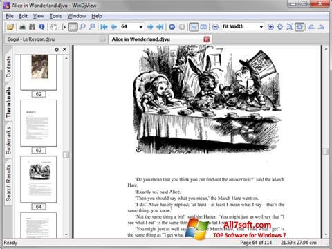 Captura de pantalla DjView para Windows 7