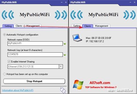 Captura de pantalla MyPublicWiFi para Windows 7
