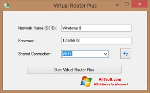 Captura de pantalla Virtual Router Plus para Windows 7