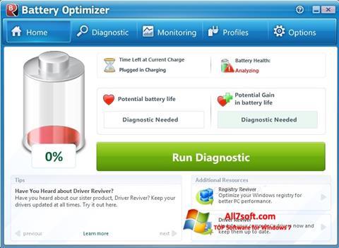 Captura de pantalla Battery Optimizer para Windows 7