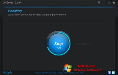 Captura de pantalla JetBoost para Windows 7