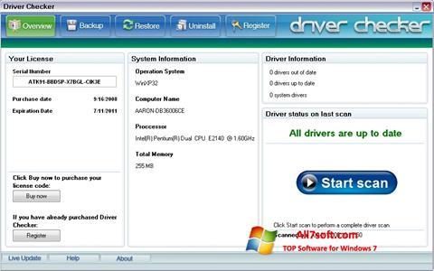 Captura de pantalla Driver Checker para Windows 7