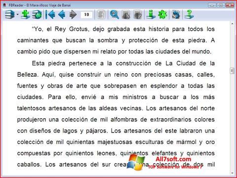 Captura de pantalla FBReader para Windows 7