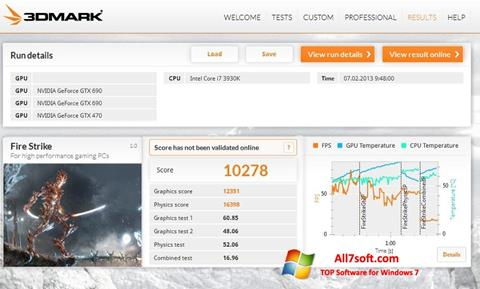 Captura de pantalla 3DMark para Windows 7