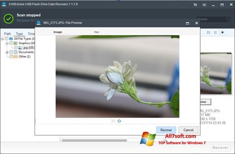 Captura de pantalla USB Flash Drive Recovery para Windows 7