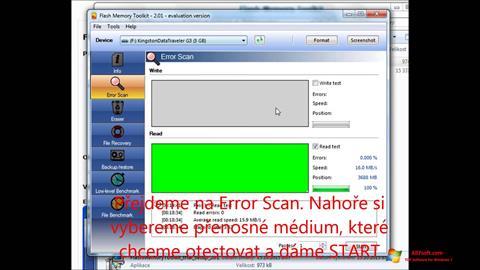 Captura de pantalla Flash Memory Toolkit para Windows 7