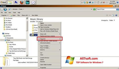 Captura de pantalla MagicISO para Windows 7