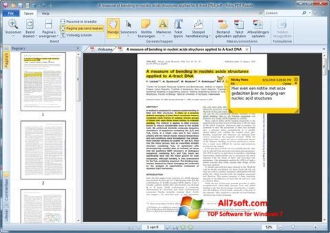 Captura de pantalla Nitro PDF Reader para Windows 7