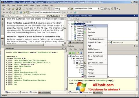 Captura de pantalla Reflector para Windows 7