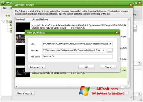 Captura de pantalla Free Video Catcher para Windows 7