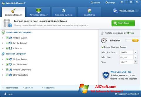 Captura de pantalla Wise Disk Cleaner para Windows 7