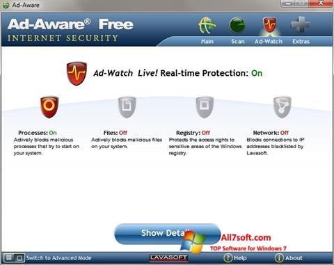 Captura de pantalla Ad-Aware para Windows 7