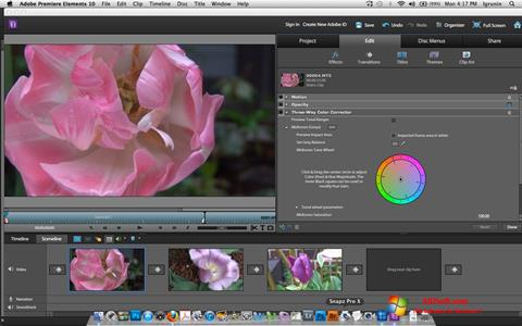 Captura de pantalla Adobe Premiere Elements para Windows 7