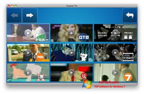 Captura de pantalla Crystal TV para Windows 7