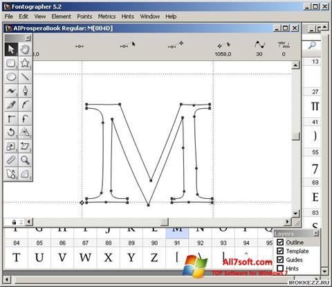 Captura de pantalla Fontographer para Windows 7