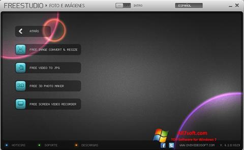 Captura de pantalla Free Studio para Windows 7