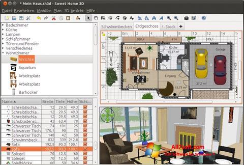Captura de pantalla Sweet Home 3D para Windows 7