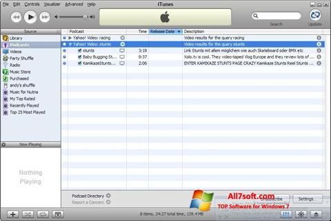 Captura de pantalla iTunes para Windows 7