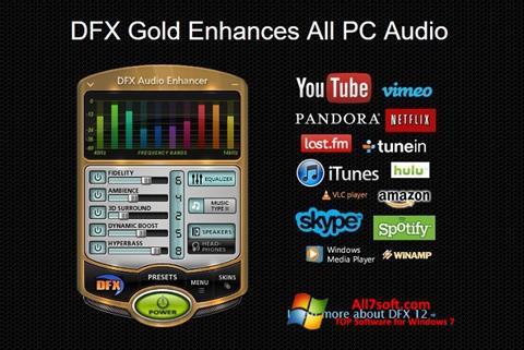 Captura de pantalla DFX Audio Enhancer para Windows 7