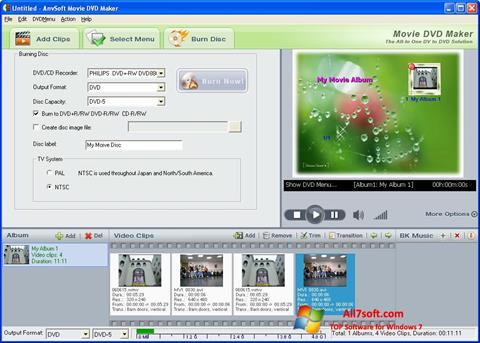 Captura de pantalla DVD Maker para Windows 7