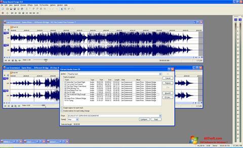 Captura de pantalla Sound Forge para Windows 7