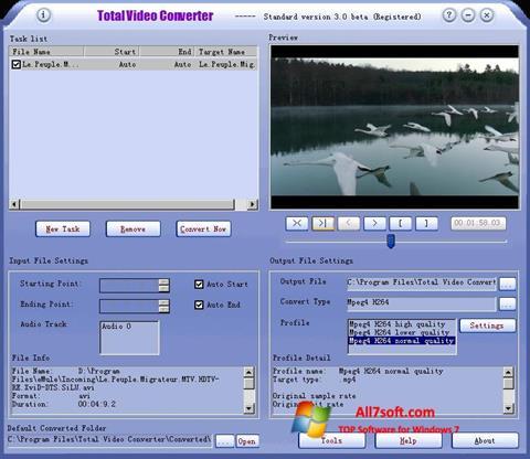 Captura de pantalla Total Video Converter para Windows 7