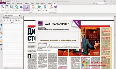 Captura de pantalla Foxit Phantom para Windows 7
