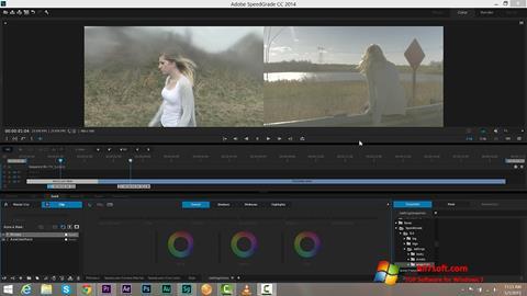 Captura de pantalla Adobe SpeedGrade para Windows 7