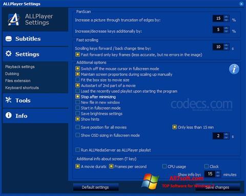 Captura de pantalla ALLPlayer para Windows 7