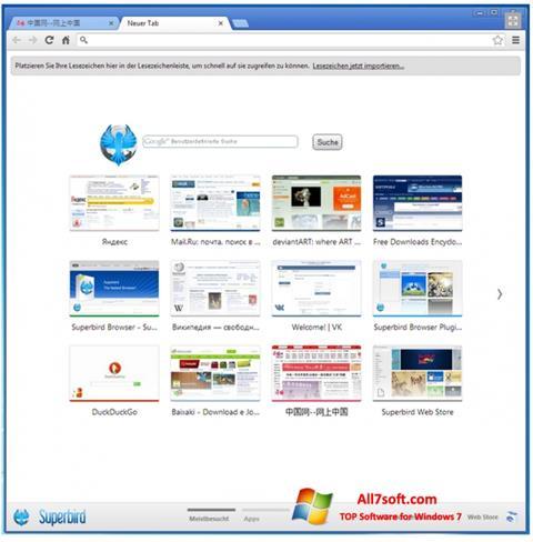 Captura de pantalla Superbird para Windows 7