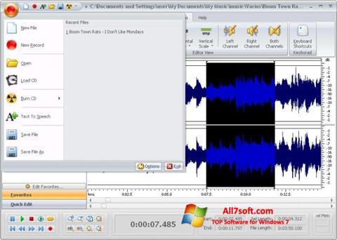 Captura de pantalla Free Audio Editor para Windows 7